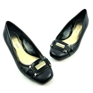 Antonio Melani Size 8.5 Black Wedge Dress Shoes